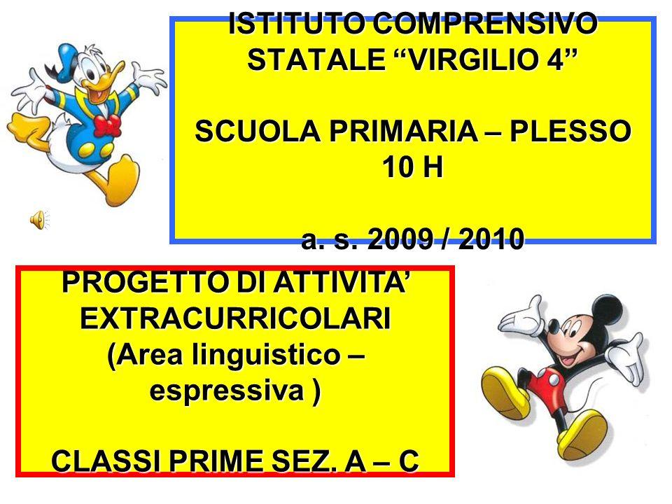 ISTITUTO COMPRENSIVO STATALE VIRGILIO 4 SCUOLA PRIMARIA – PLESSO 10 H a. s. 2009 / 2010