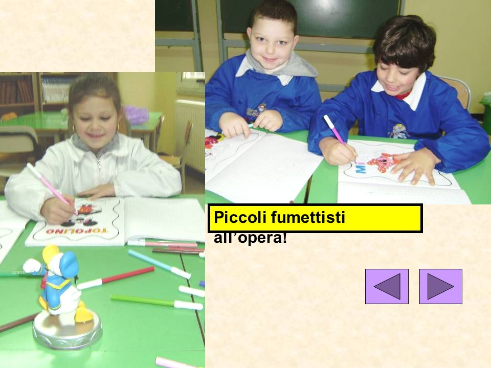Piccoli fumettisti all'opera!