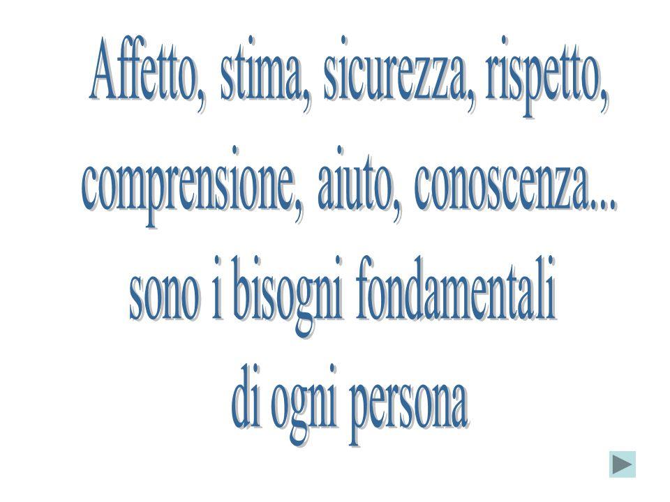 Affetto, stima, sicurezza, rispetto,