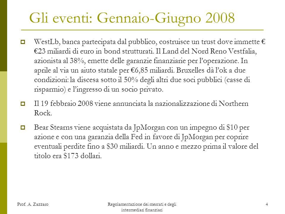 Gli eventi: Gennaio-Giugno 2008