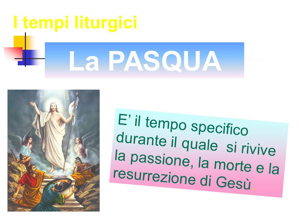 La PASQUA I tempi liturgici