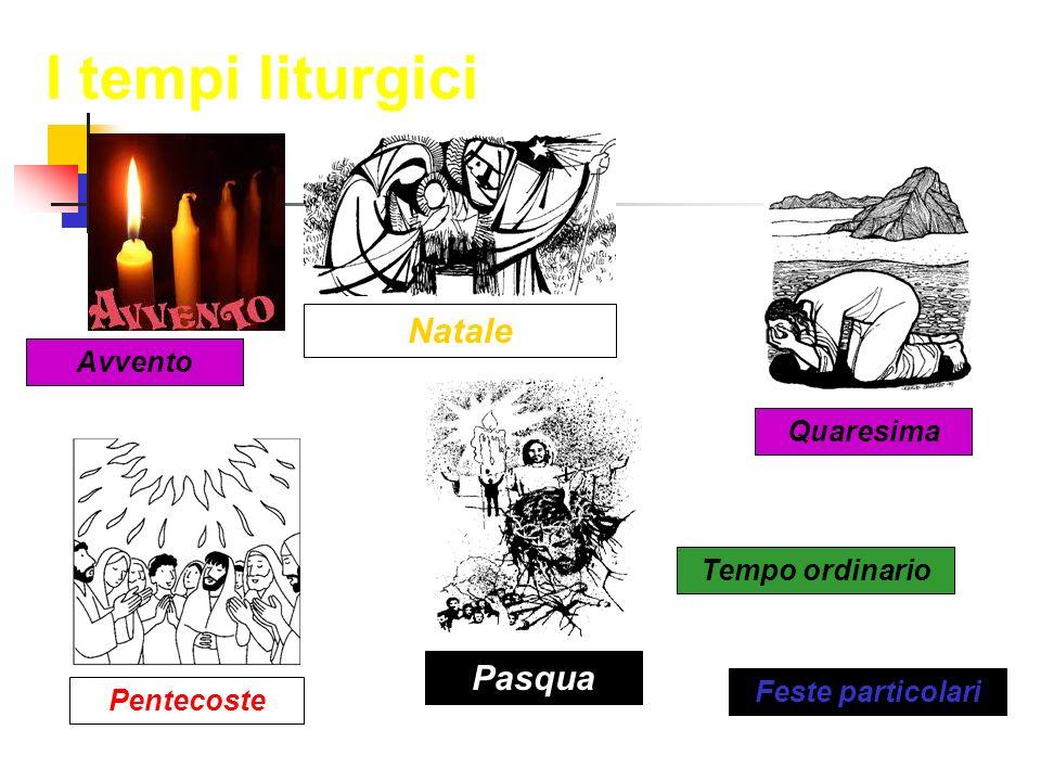 I tempi liturgici Natale Pasqua Avvento Quaresima Tempo ordinario