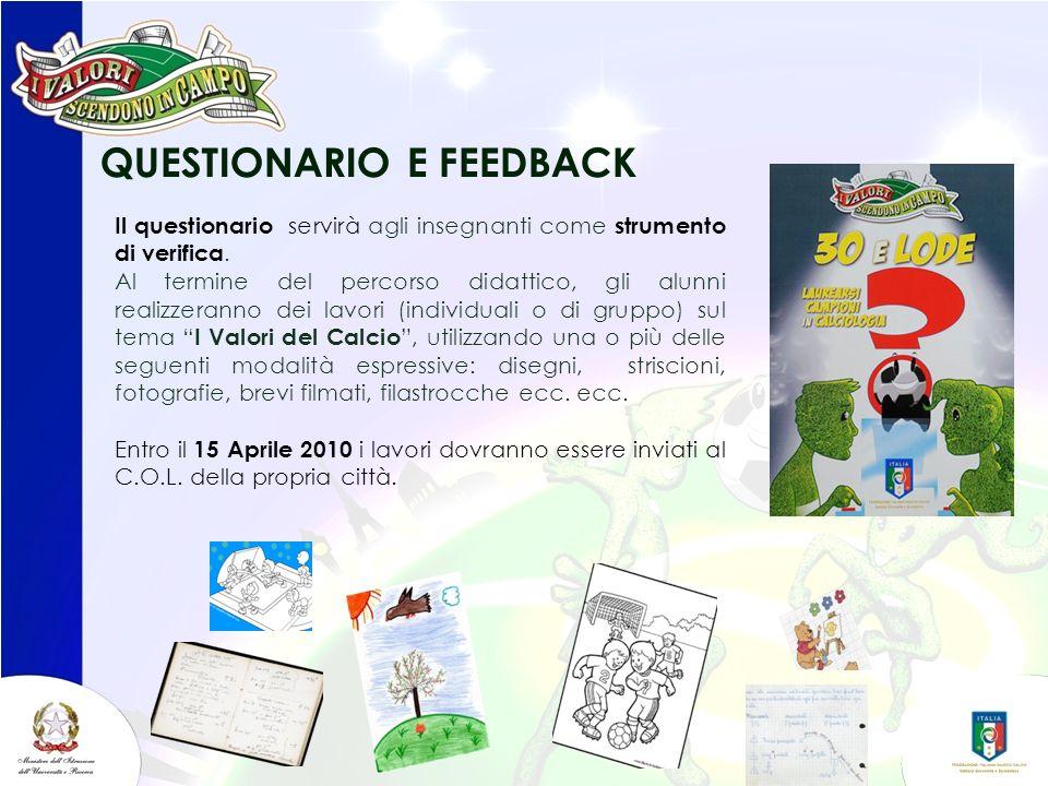QUESTIONARIO E FEEDBACK