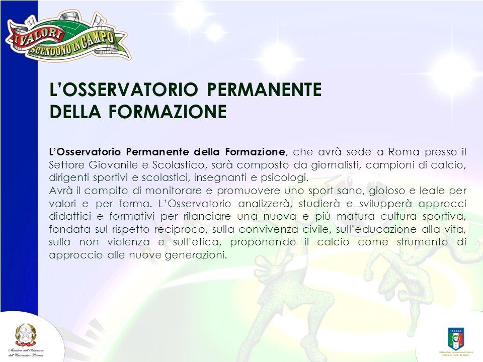 L'OSSERVATORIO PERMANENTE DELLA FORMAZIONE