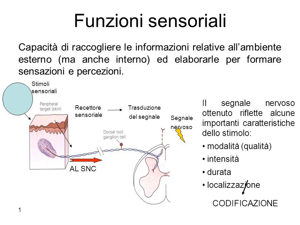 Funzioni sensoriali