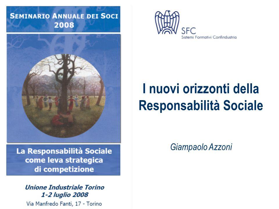 I nuovi orizzonti della Responsabilità Sociale