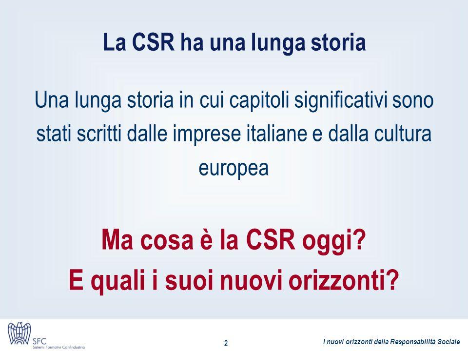 La CSR ha una lunga storia
