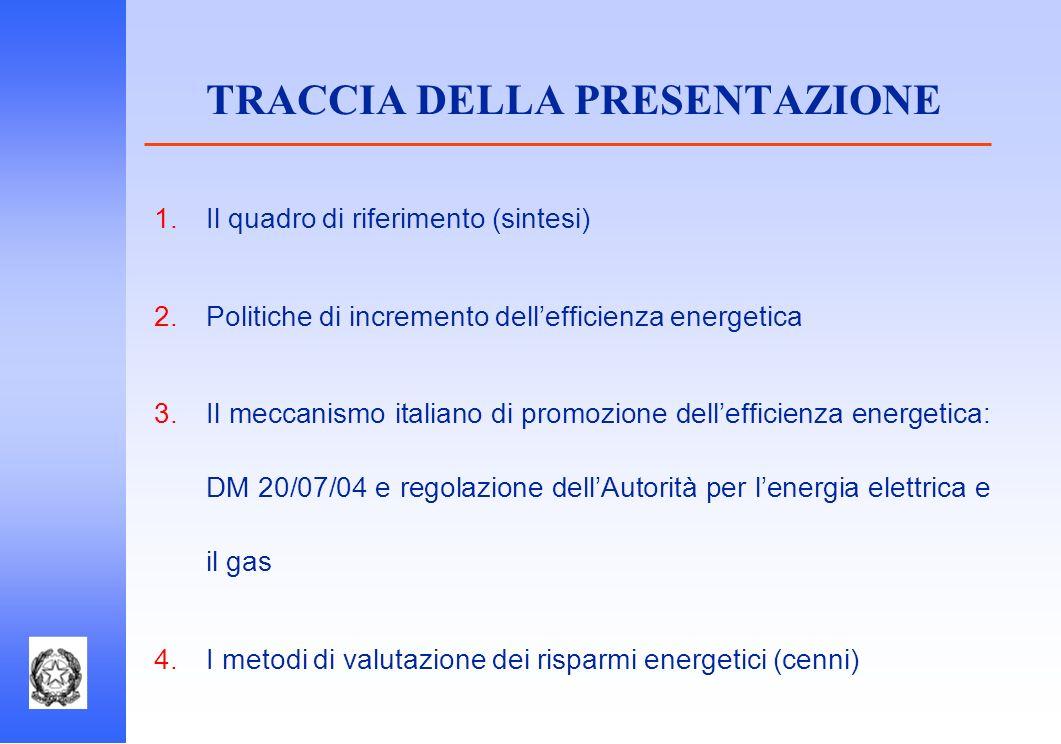 TRACCIA DELLA PRESENTAZIONE
