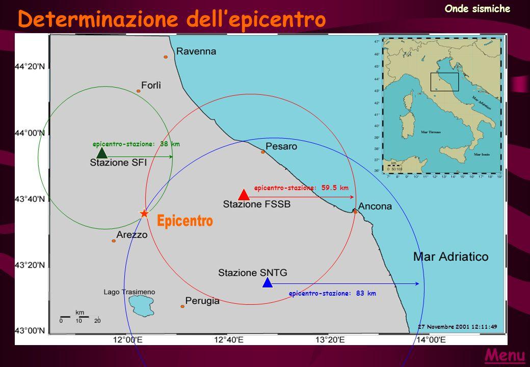 Determinazione dell'epicentro
