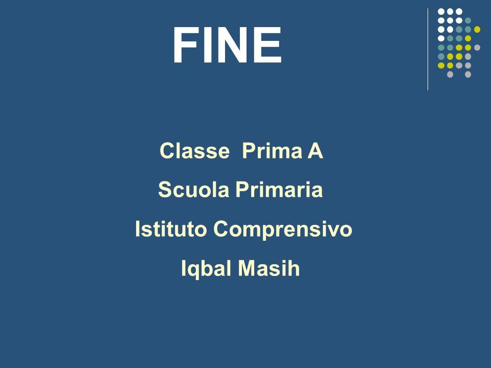 FINE Classe Prima A Scuola Primaria Istituto Comprensivo Iqbal Masih