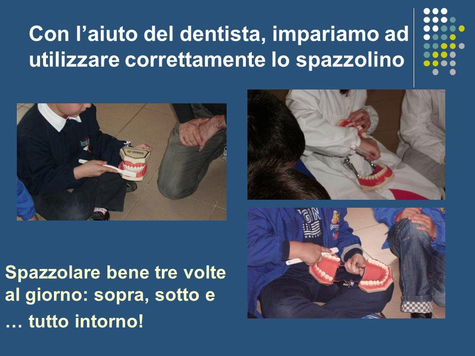 Con l'aiuto del dentista, impariamo ad utilizzare correttamente lo spazzolino