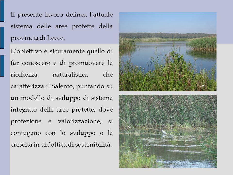 Il presente lavoro delinea l'attuale sistema delle aree protette della provincia di Lecce.