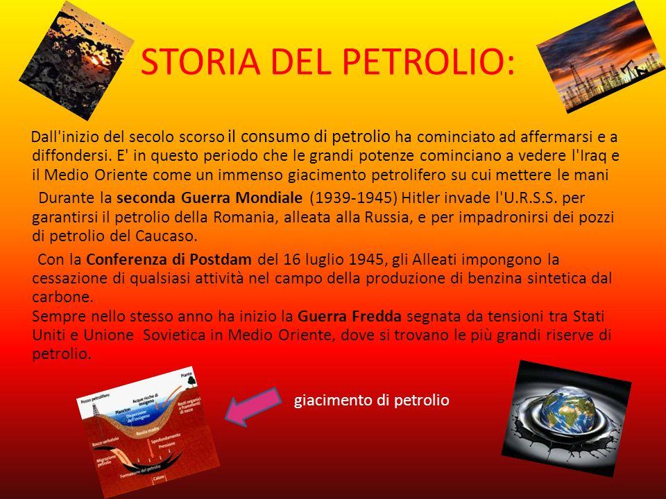 STORIA DEL PETROLIO: