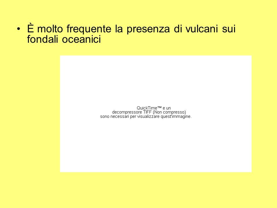 È molto frequente la presenza di vulcani sui fondali oceanici