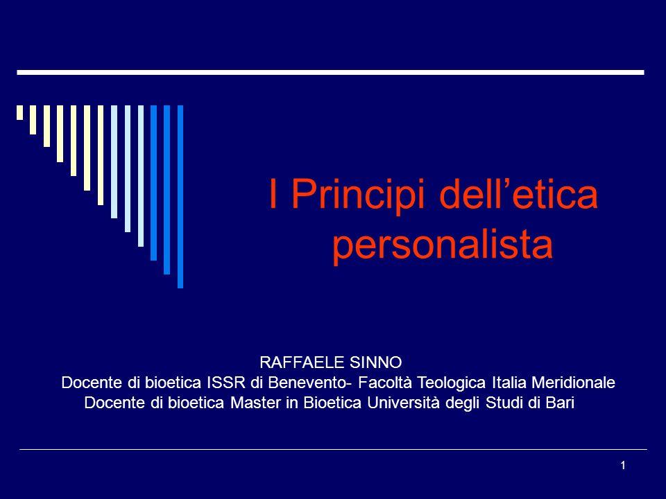 I Principi dell'etica personalista
