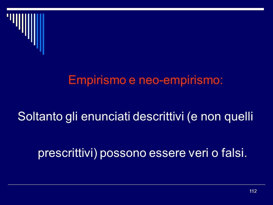 Empirismo e neo-empirismo:
