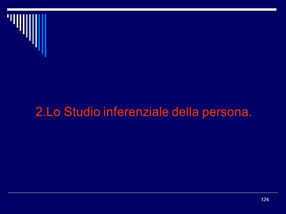2.Lo Studio inferenziale della persona.