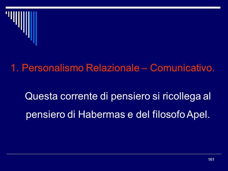 Personalismo Relazionale – Comunicativo.