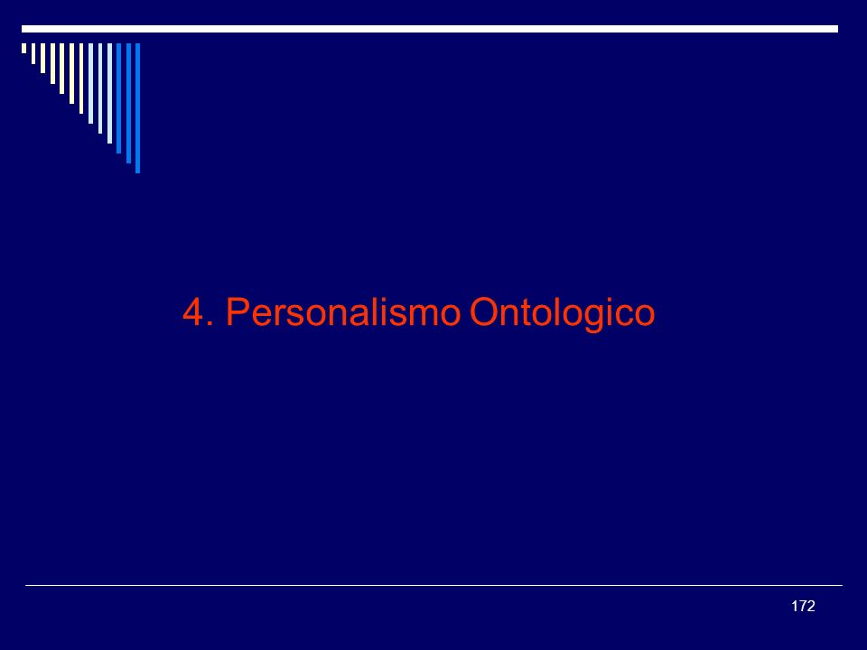 4. Personalismo Ontologico