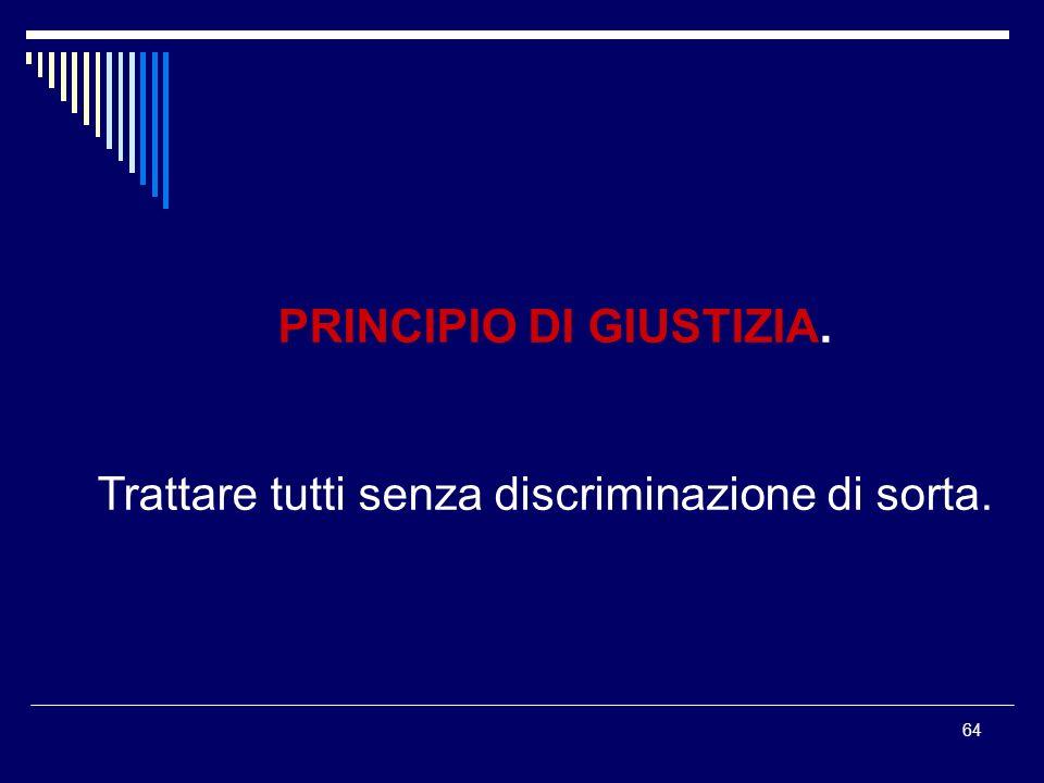PRINCIPIO DI GIUSTIZIA.