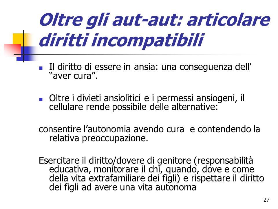 Oltre gli aut-aut: articolare diritti incompatibili