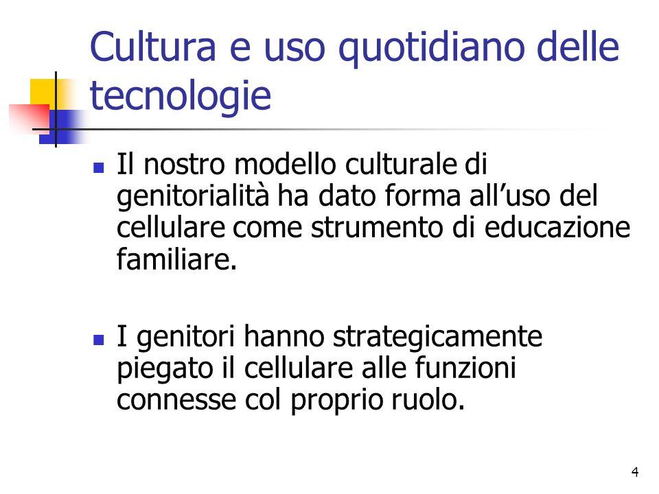 Cultura e uso quotidiano delle tecnologie