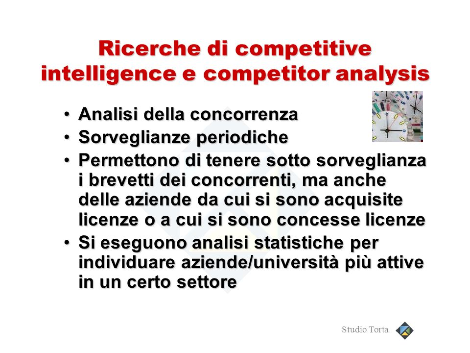 Ricerche di competitive intelligence e competitor analysis