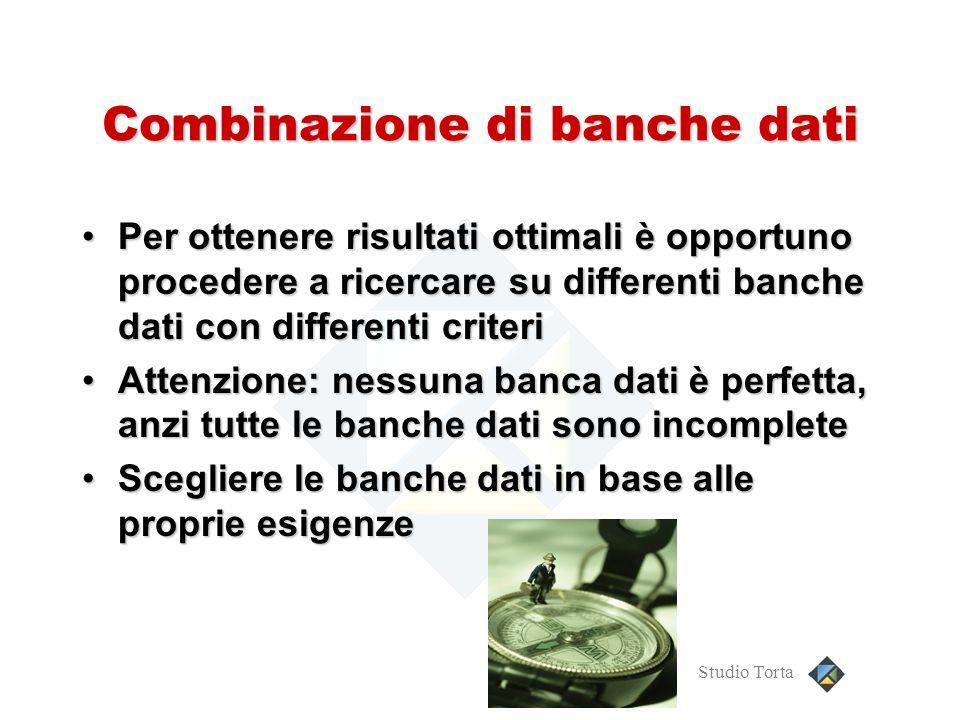 Combinazione di banche dati