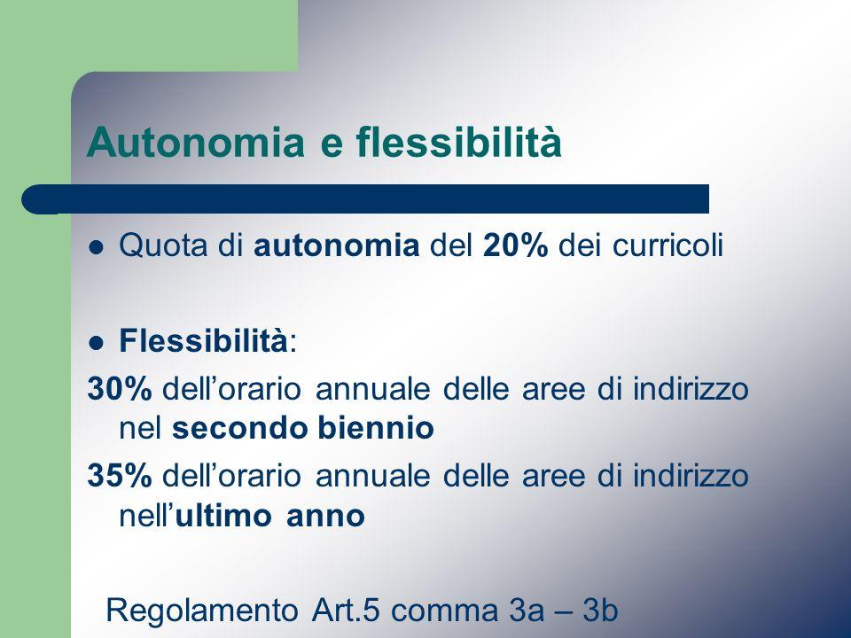 Autonomia e flessibilità