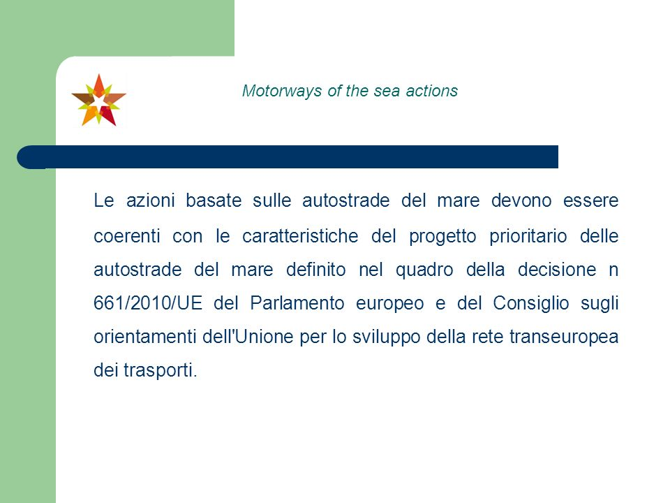 Motorways of the sea actions