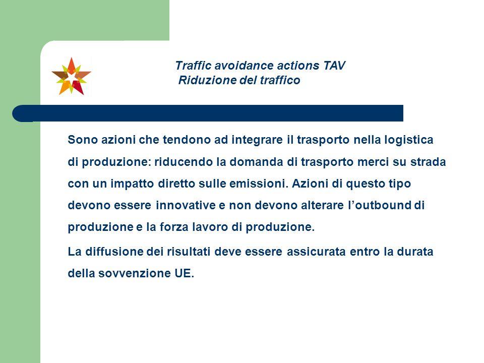 Traffic avoidance actions TAV Riduzione del traffico