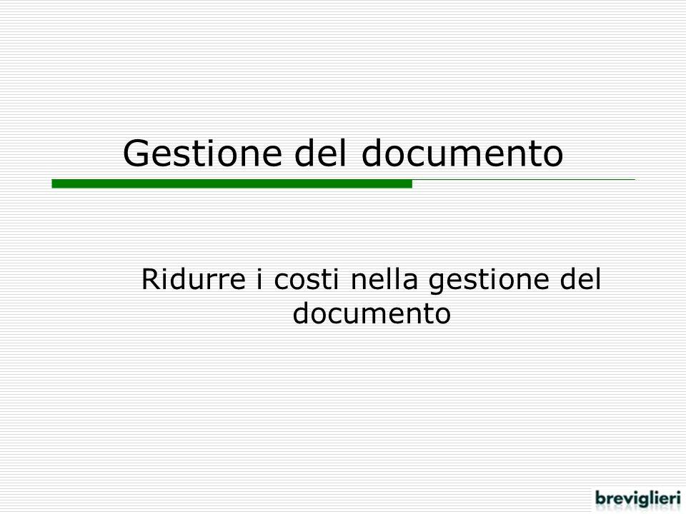 Gestione del documento