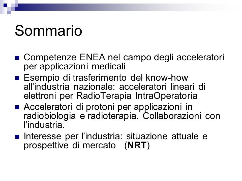 Sommario Competenze ENEA nel campo degli acceleratori per applicazioni medicali.