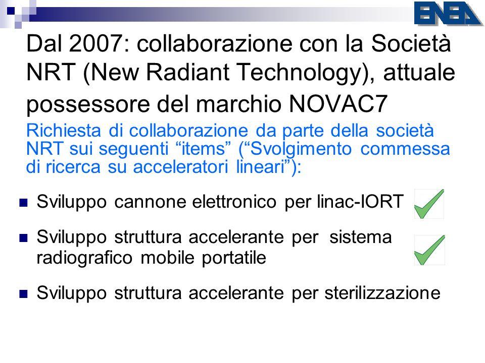 Dal 2007: collaborazione con la Società NRT (New Radiant Technology), attuale possessore del marchio NOVAC7
