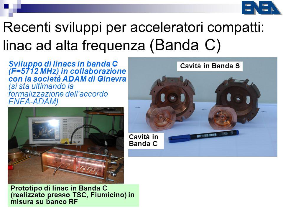 Recenti sviluppi per acceleratori compatti: linac ad alta frequenza (Banda C)