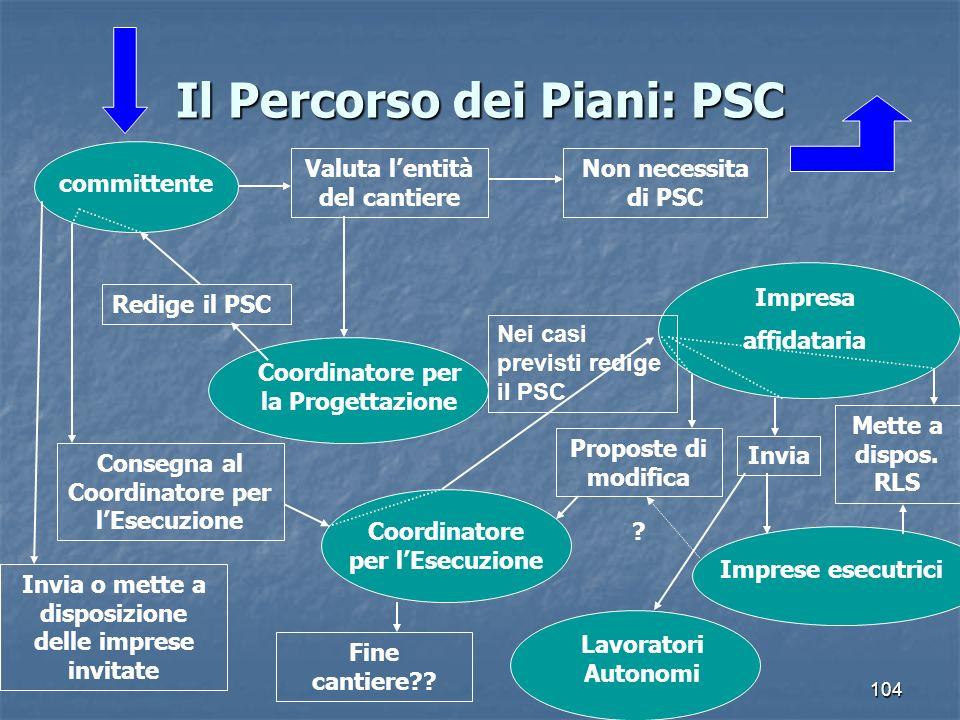 Il Percorso dei Piani: PSC