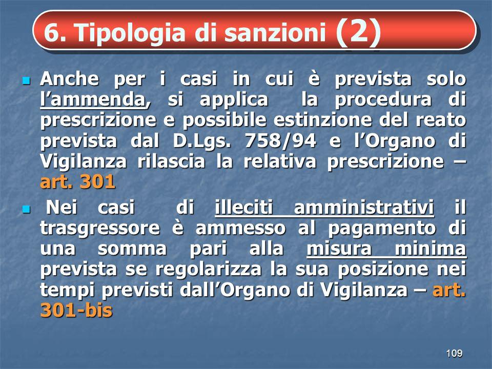 6. Tipologia di sanzioni (2)