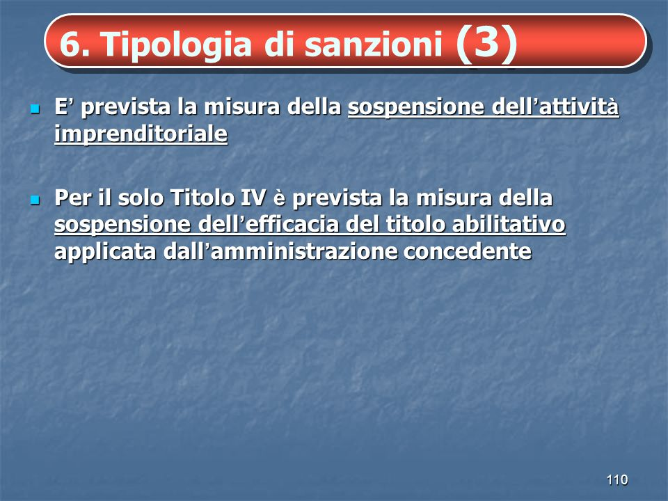 6. Tipologia di sanzioni (3)