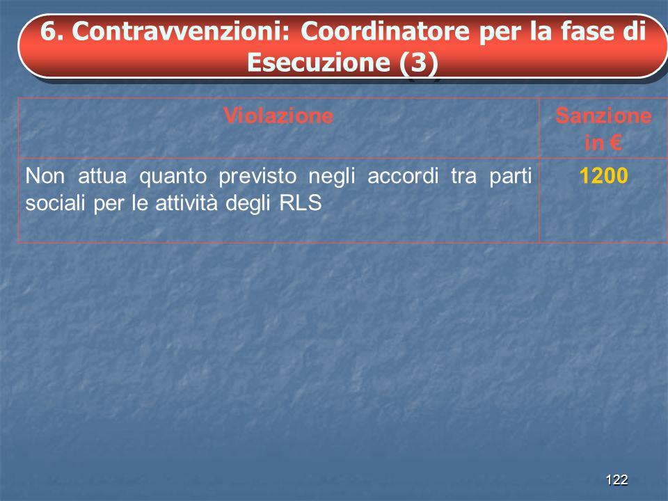 6. Contravvenzioni: Coordinatore per la fase di Esecuzione (3)
