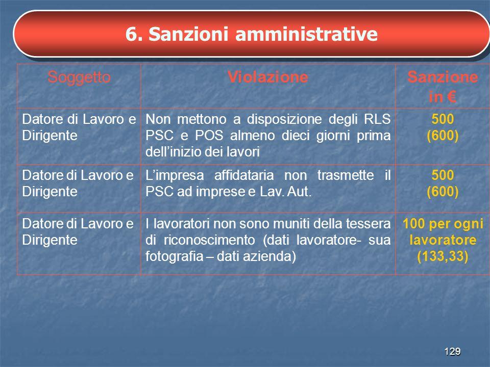 6. Sanzioni amministrative