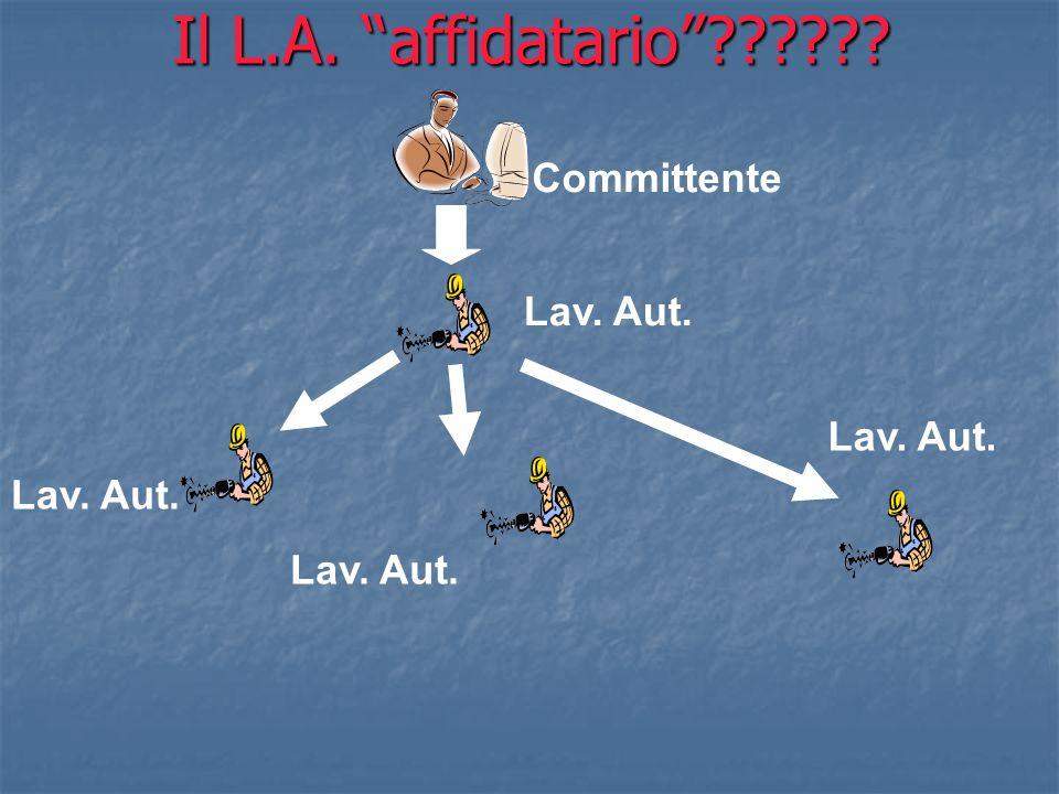 Il L.A. affidatario Committente Lav. Aut. Lav. Aut. Lav. Aut.