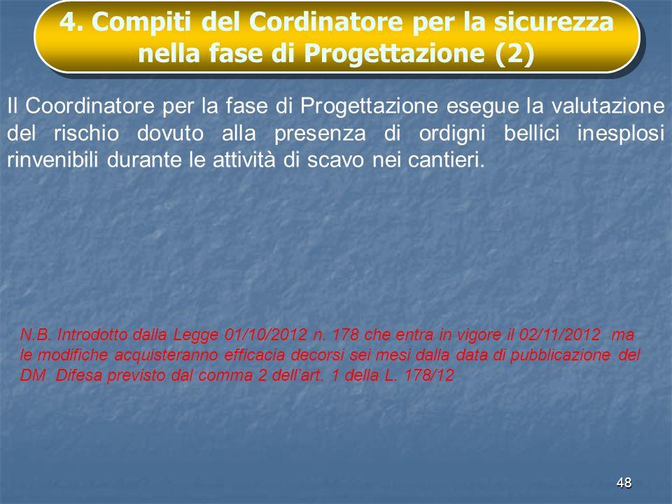4. Compiti del Cordinatore per la sicurezza nella fase di Progettazione (2)