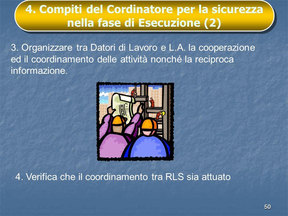 4. Compiti del Cordinatore per la sicurezza nella fase di Esecuzione (2)
