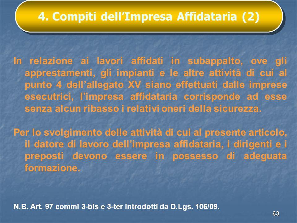 4. Compiti dell'Impresa Affidataria (2)