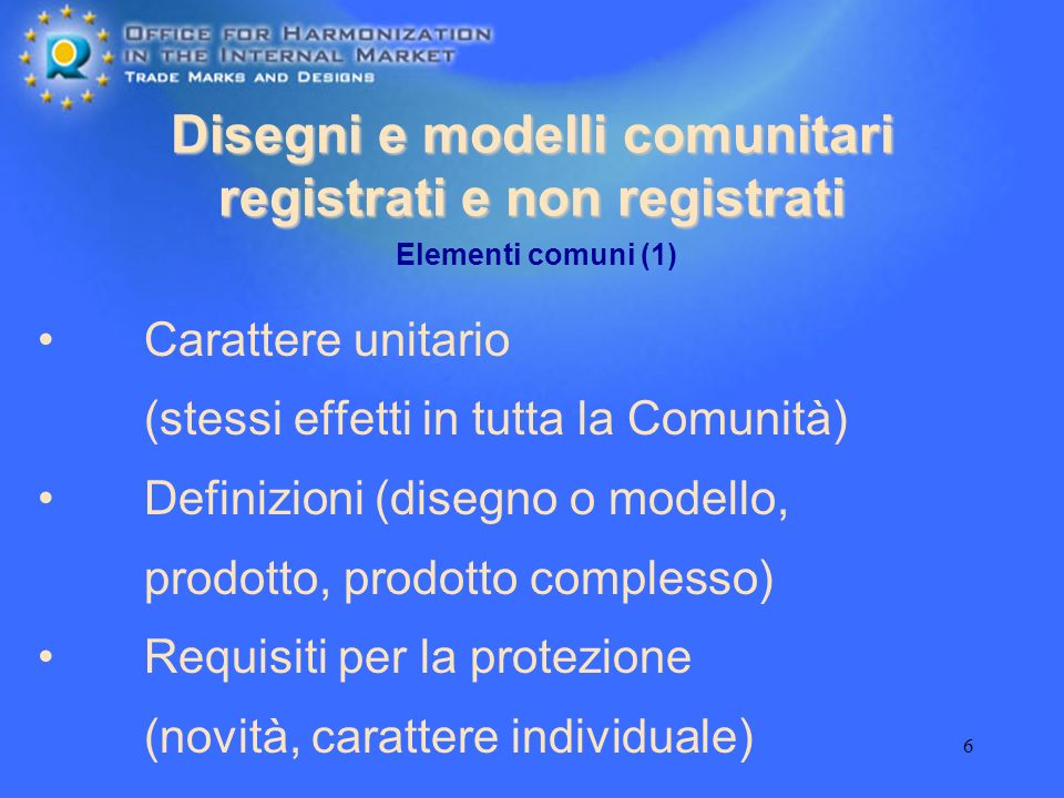 Disegni e modelli comunitari registrati e non registrati