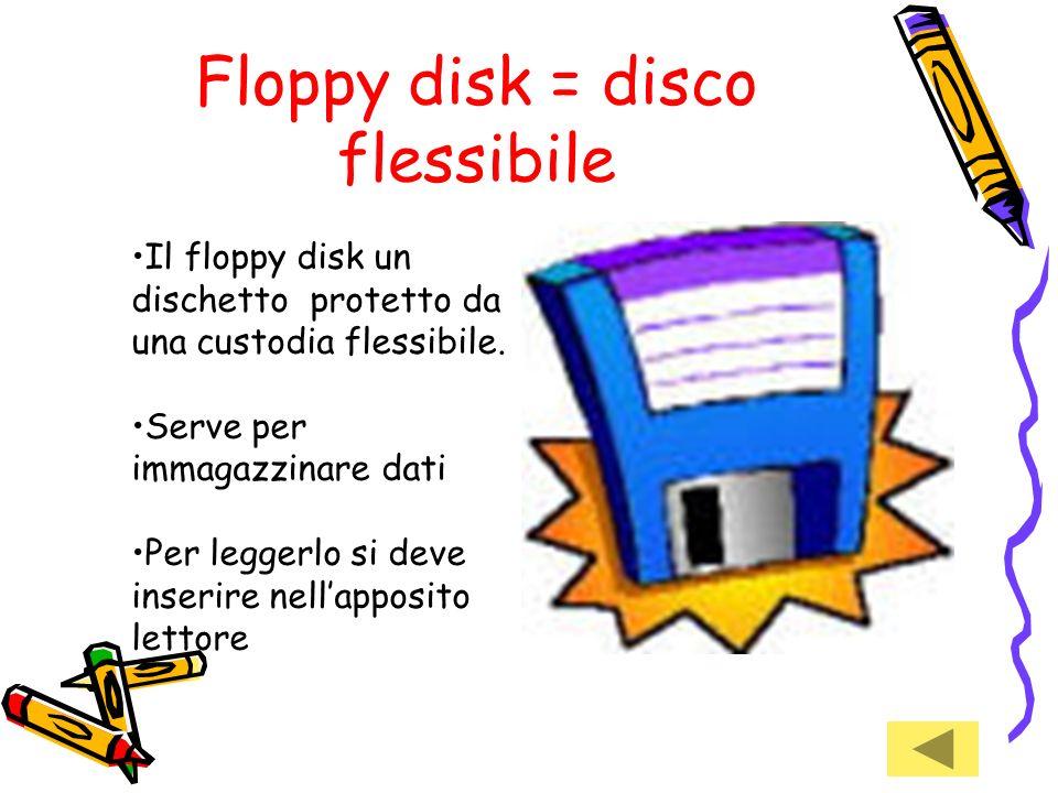 Floppy disk = disco flessibile