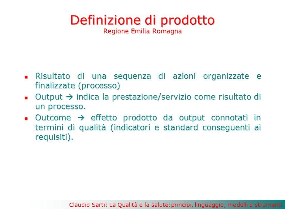 Definizione di prodotto Regione Emilia Romagna