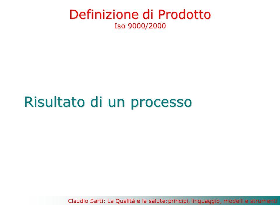 Definizione di Prodotto Iso 9000/2000
