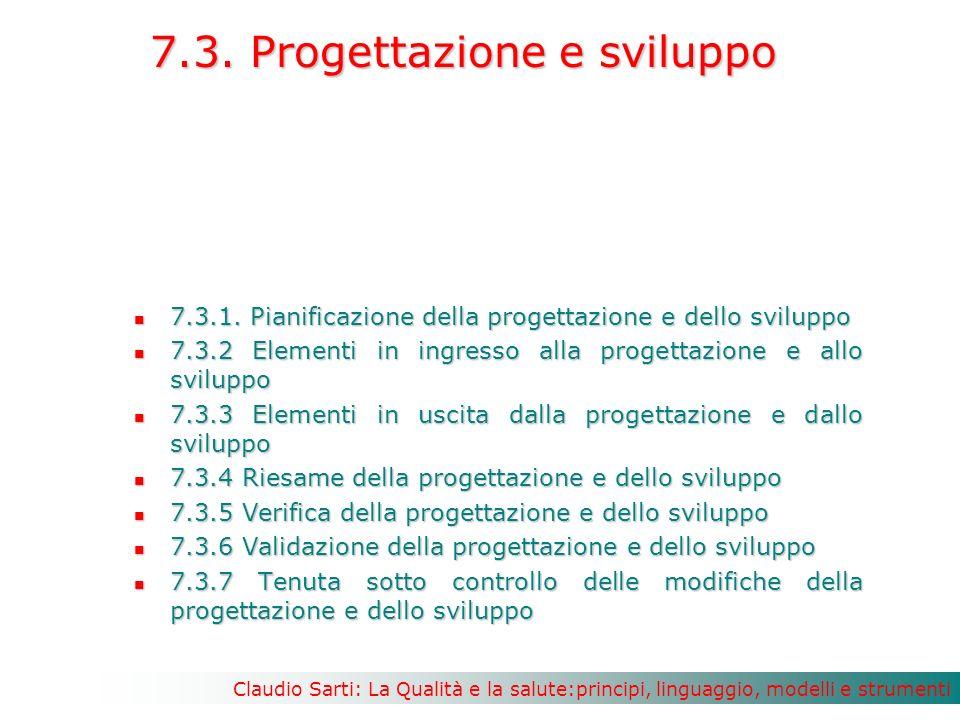 7.3. Progettazione e sviluppo
