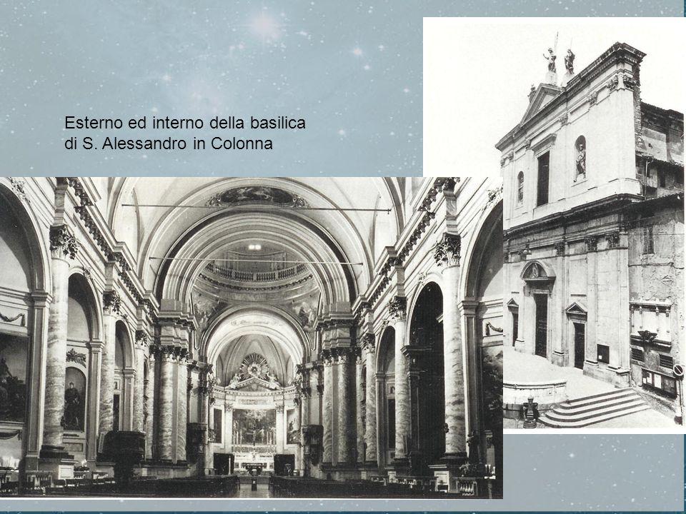 Esterno ed interno della basilica di S. Alessandro in Colonna